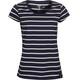 Elkline Anna t-shirt Dames blauw/wit